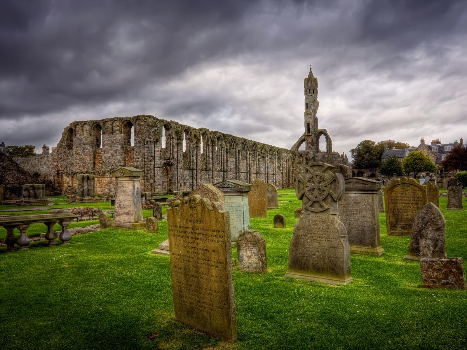 Fall Graveyard Cemetery Wallpaper Scotland Ancient Celtic Wallpaper 1600x1200 199667
