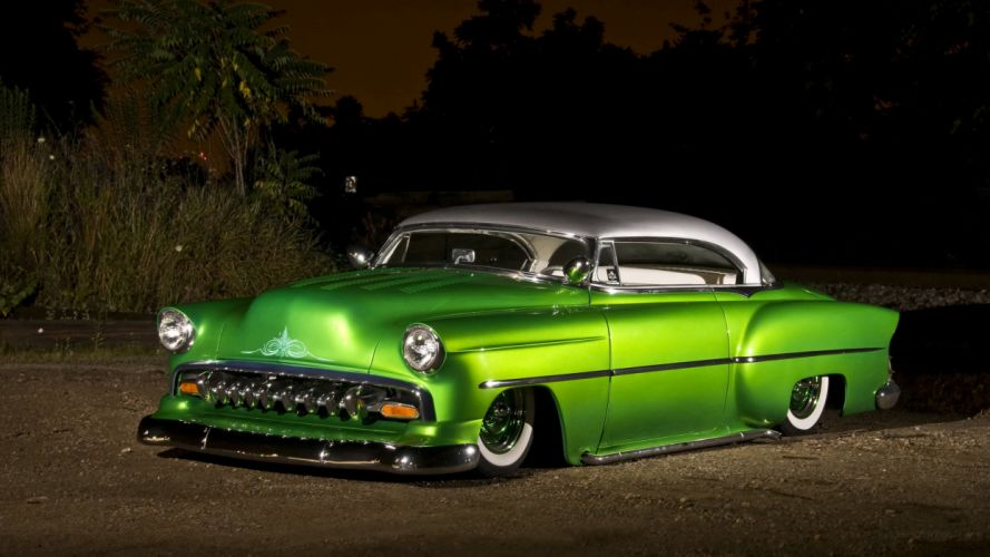 Pics Of Cars Wallpapers 1954 Chevrolet Bel Air Custom Coupe Wallpaper 4261x2399