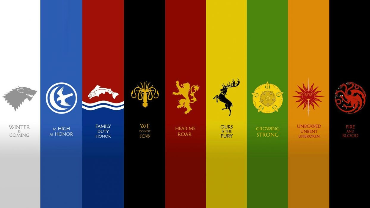 Game Of Thrones Quotes Wallpaper 1920x1080 Quotes Houses Fantasy Art Game Of Thrones Emblems A Song