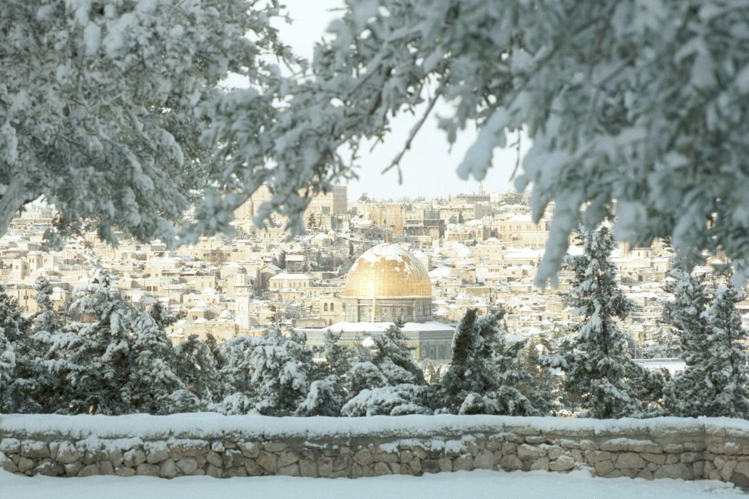 Valentines Day 3d Wallpaper Israel Jerusalem Snow Winter Temple Mountain Wallpaper