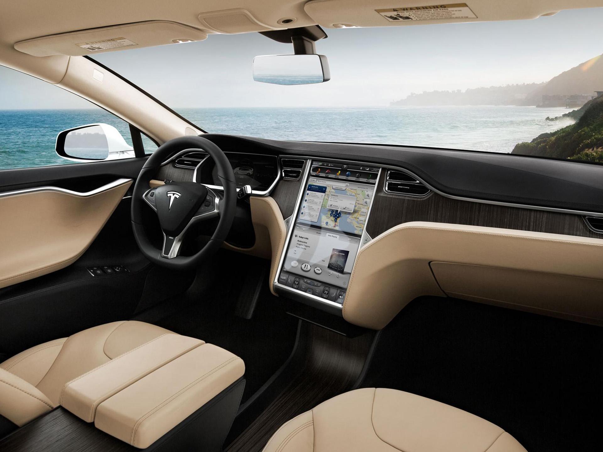 8k Car Wallpaper Download 2013 Tesla Model S Supercar Interior G Wallpaper