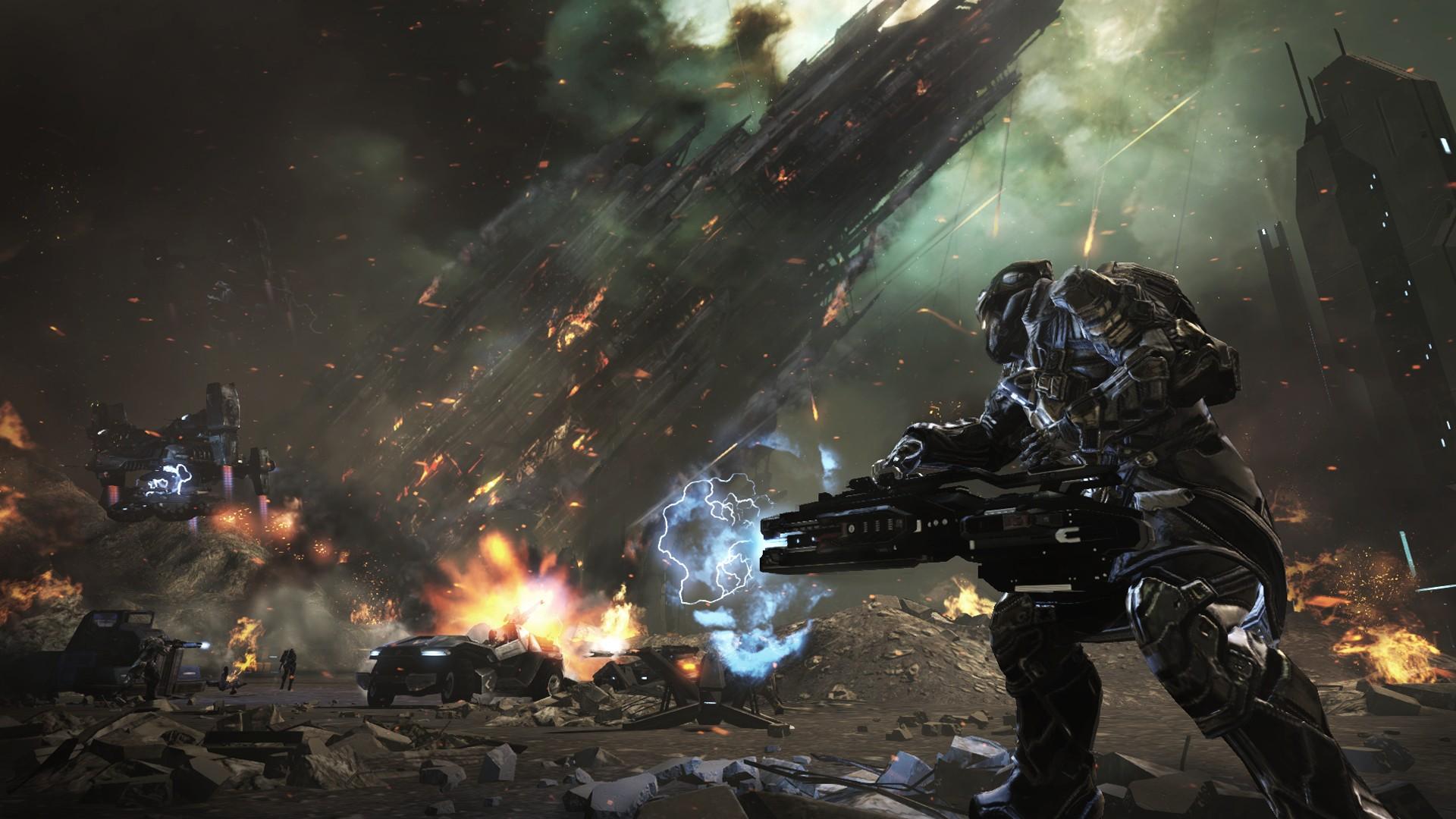 Killzone Shadow Fall Wallpaper 1080p Dust 514 Sci Fi Action Warrior Eve Weapon 21 Wallpaper