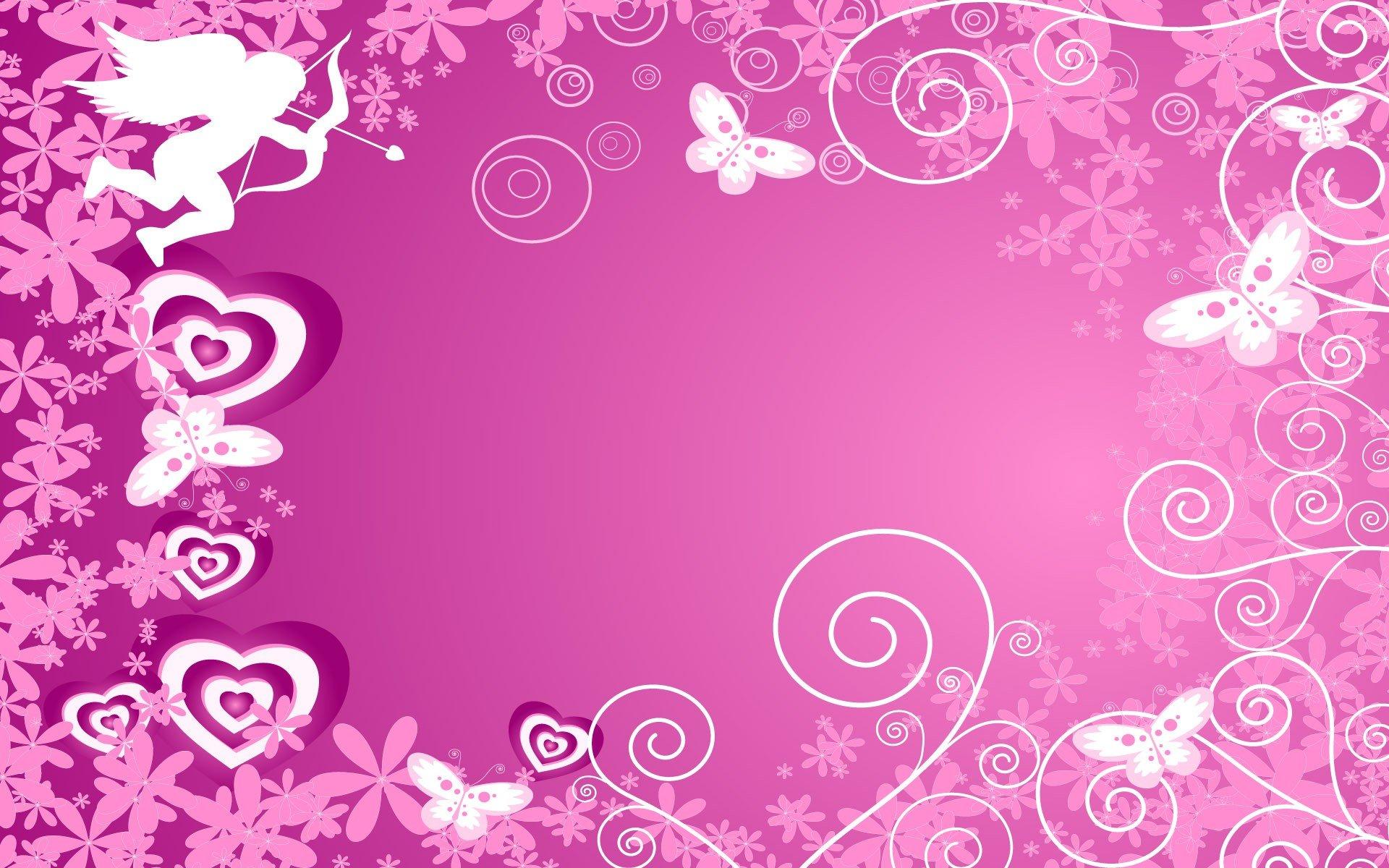 3d Colours Wallpaper Heart Pink Vectors Stencil Artwork Hearts Wallpaper 1920x1200