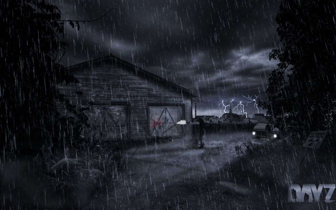 Sad Anime Girl Crying In The Rain Wallpaper Horror Video Games Rain Zombies Execution Lonely Silent