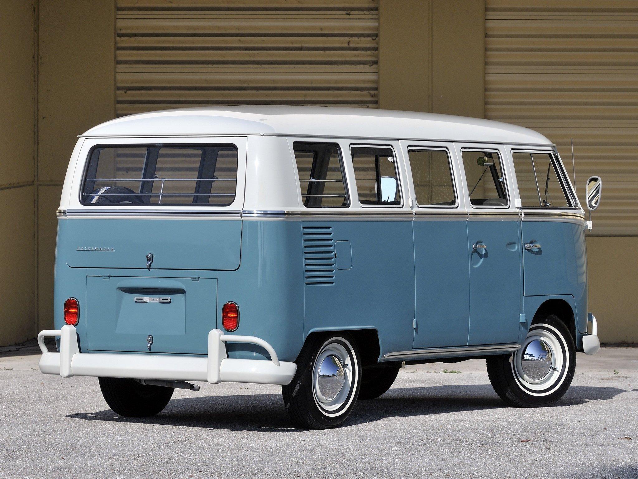 Vw Wallpaper Hd 1963 67 Volkswagen T 1 Deluxe Bus Van Classic Hs Wallpaper