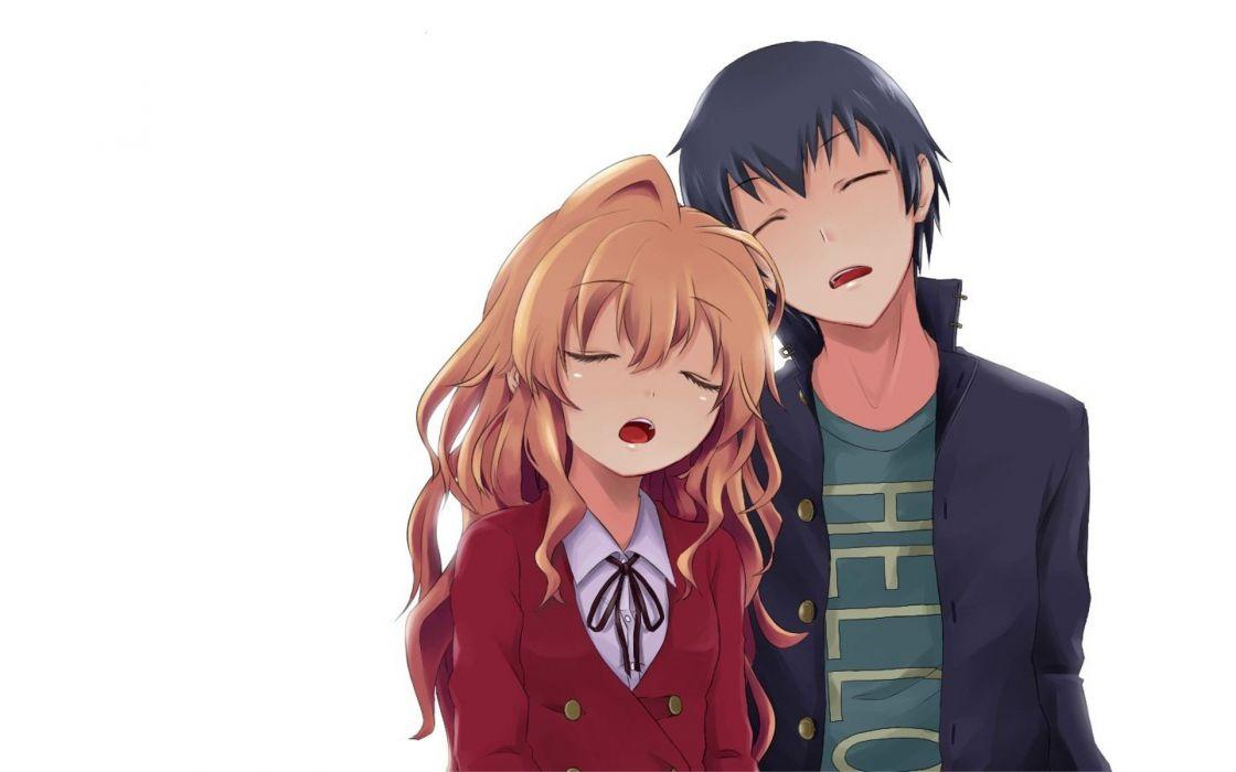 Cute Anime Couple Wallpaper Download Aisaka Taiga Toradora Takasu Ryuuji Wallpaper 1920x1200