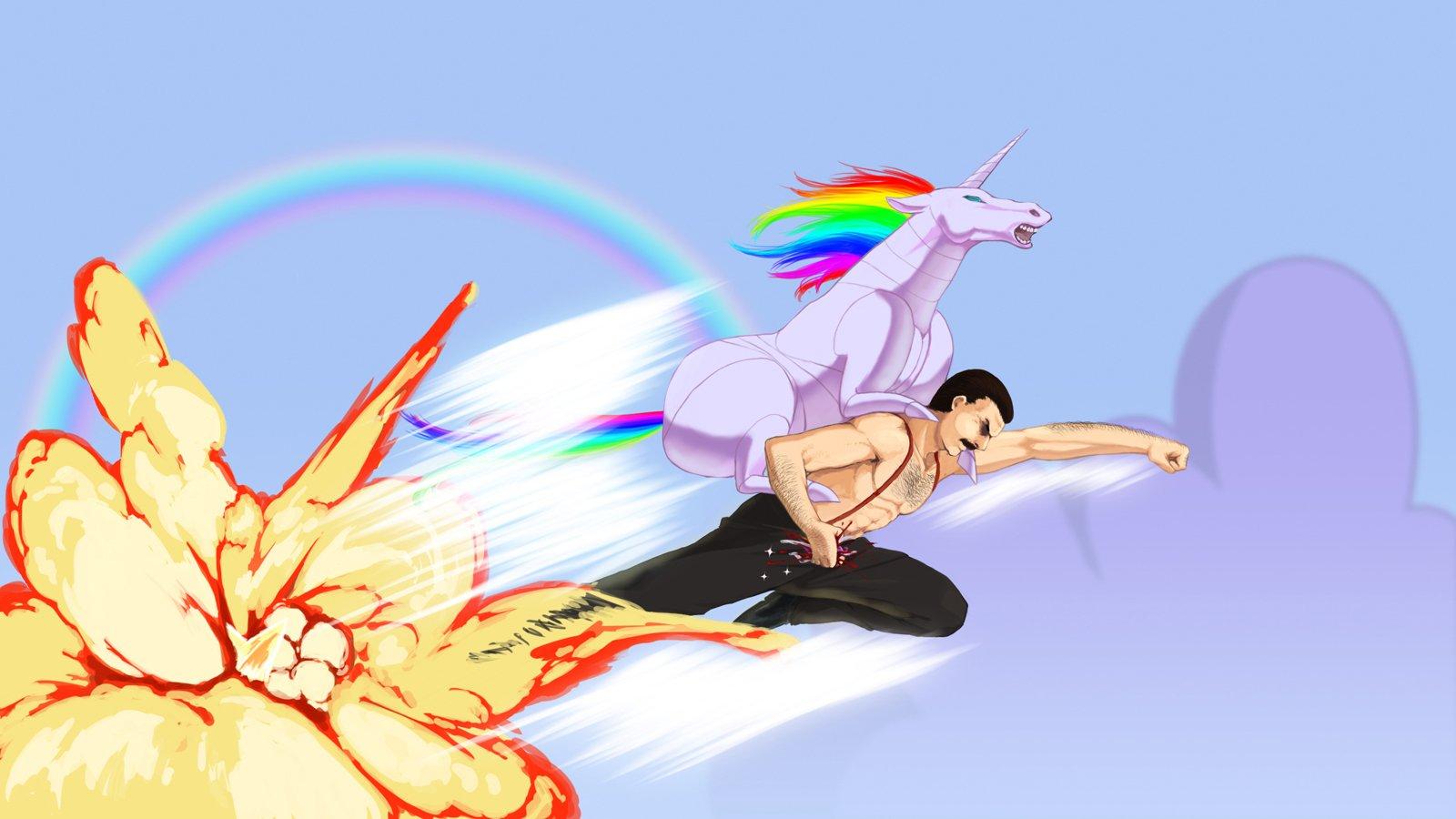 Mercury Hd Wallpaper Men Unicorns Fantasy Art Freddie Mercury Rainbows