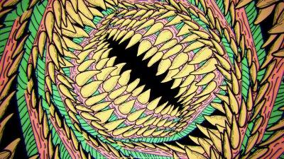Abstract dinosaurs 16-bit wallpaper | 1920x1080 | 258252 | WallpaperUP
