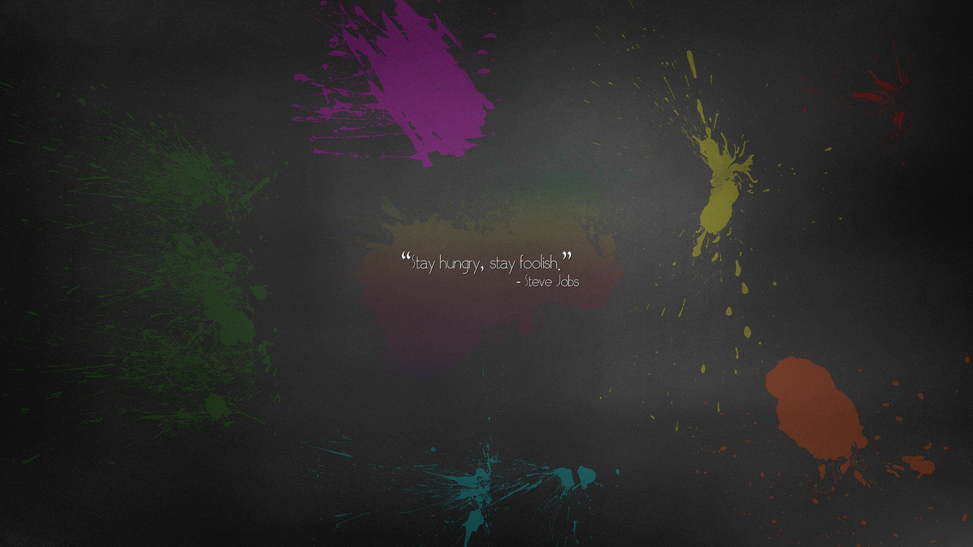 Iphone 6 Wallpaper Steve Jobs Quote Abstract Minimalistic Apple Inc Quotes Paint Rainbows