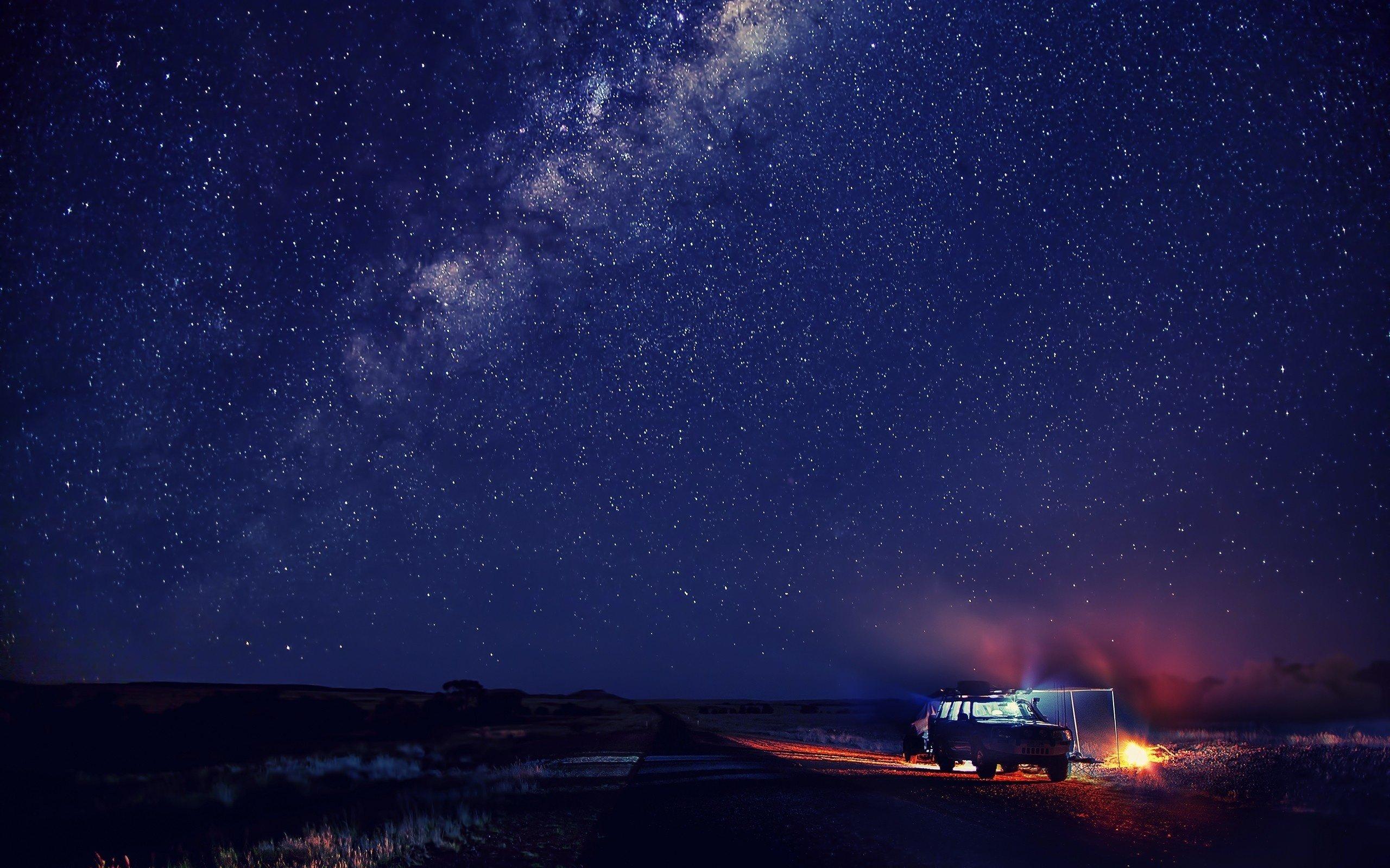 8k Car Wallpaper Download Snow Sky Winter Car Night Stars Mood Space Wallpaper