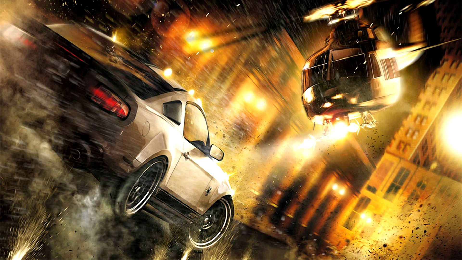 Beautiful Cars Hd Wallpapers Download Need For Speed Action Helicopter Fire Wallpaper