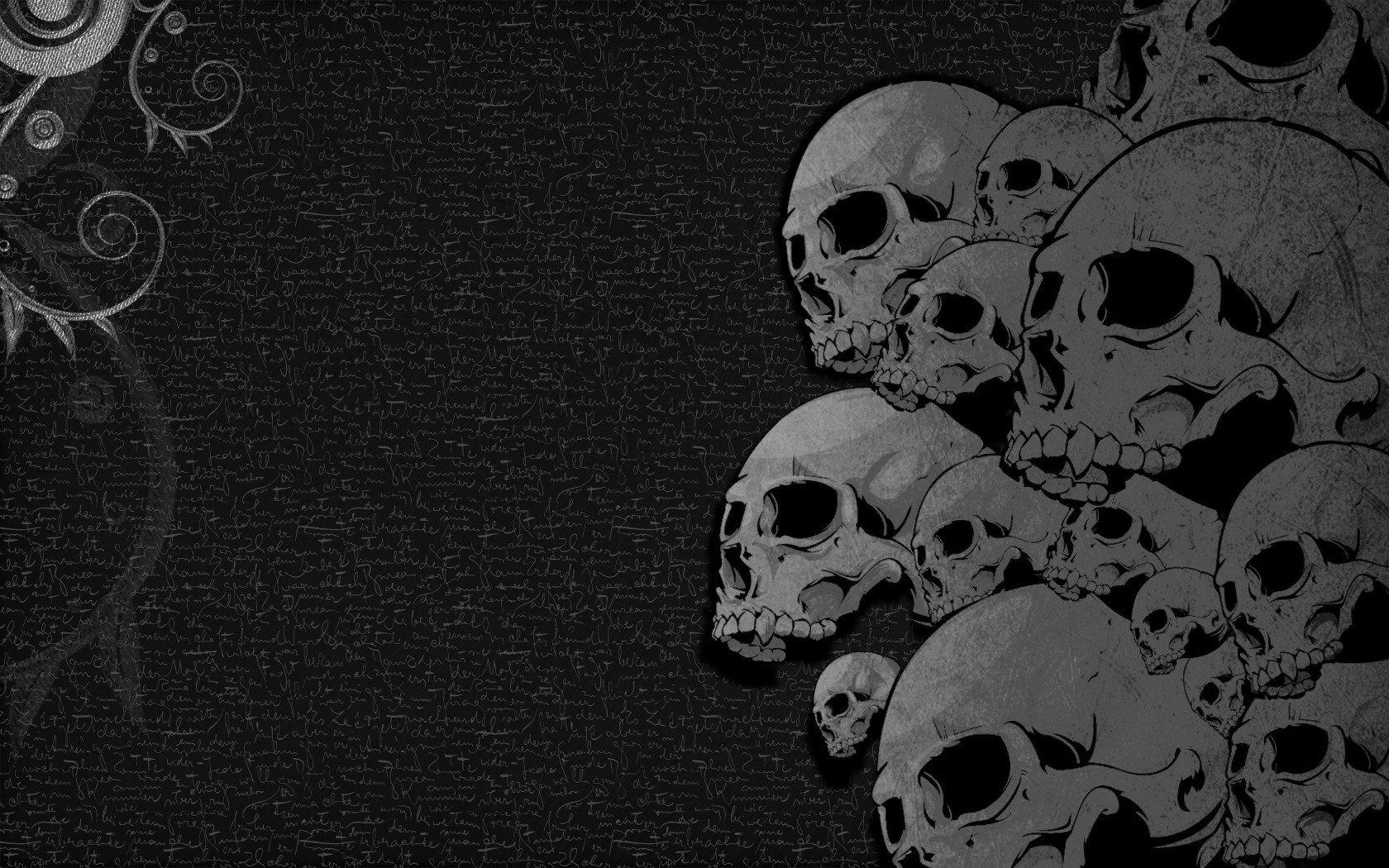 Wallpaper Black Dark Skulls Black Heavy Metal Wallpaper 1680x1050 299127