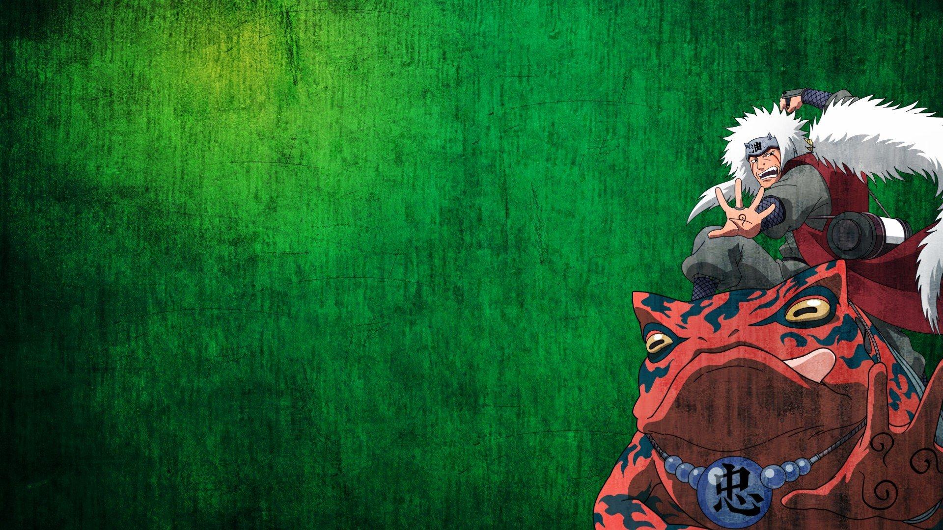Naruto Wallpaper Hd 1366x768 Naruto Shippuden Frogs Anime Anime Boys Jiraiya Green