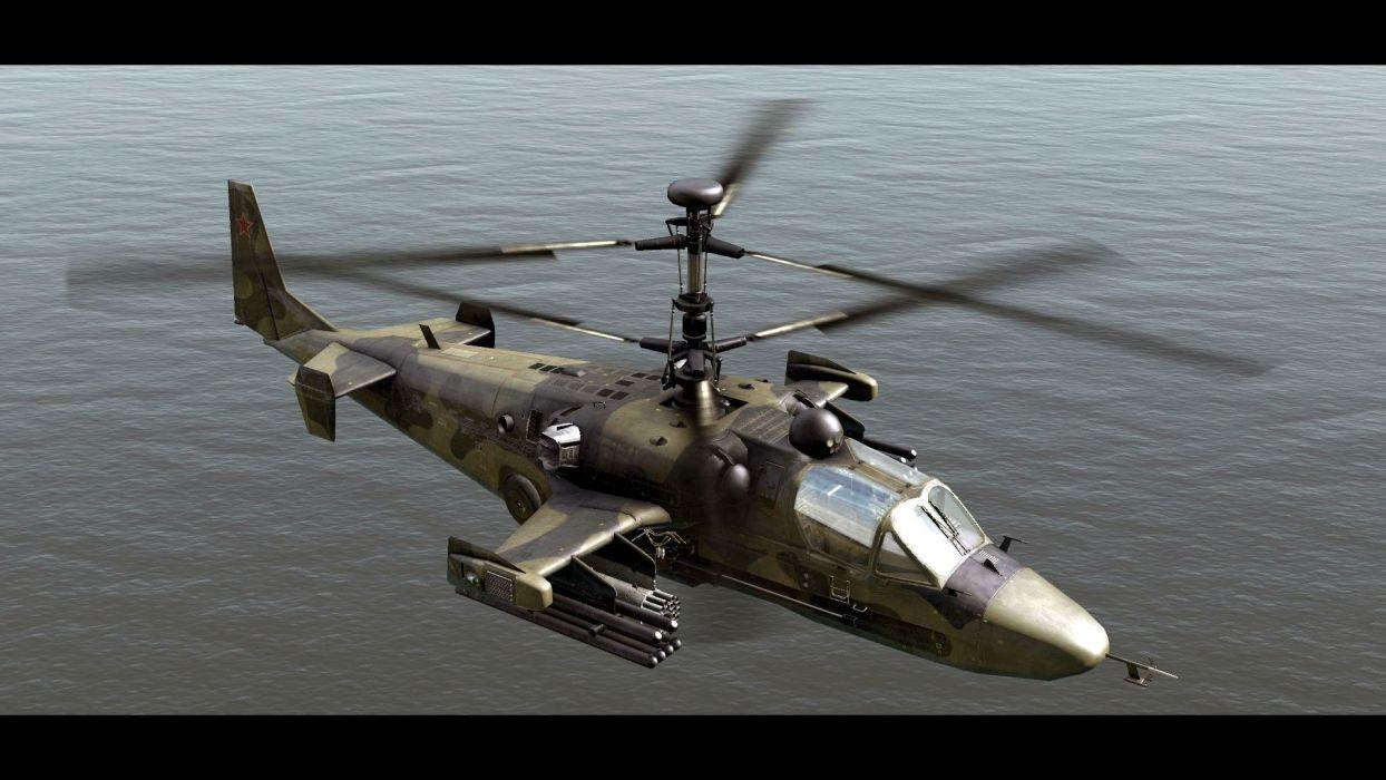 Black Wallpaper 1920x1080 Kamov Ka 50 Black Shark Gunship Attack Helicopter Military