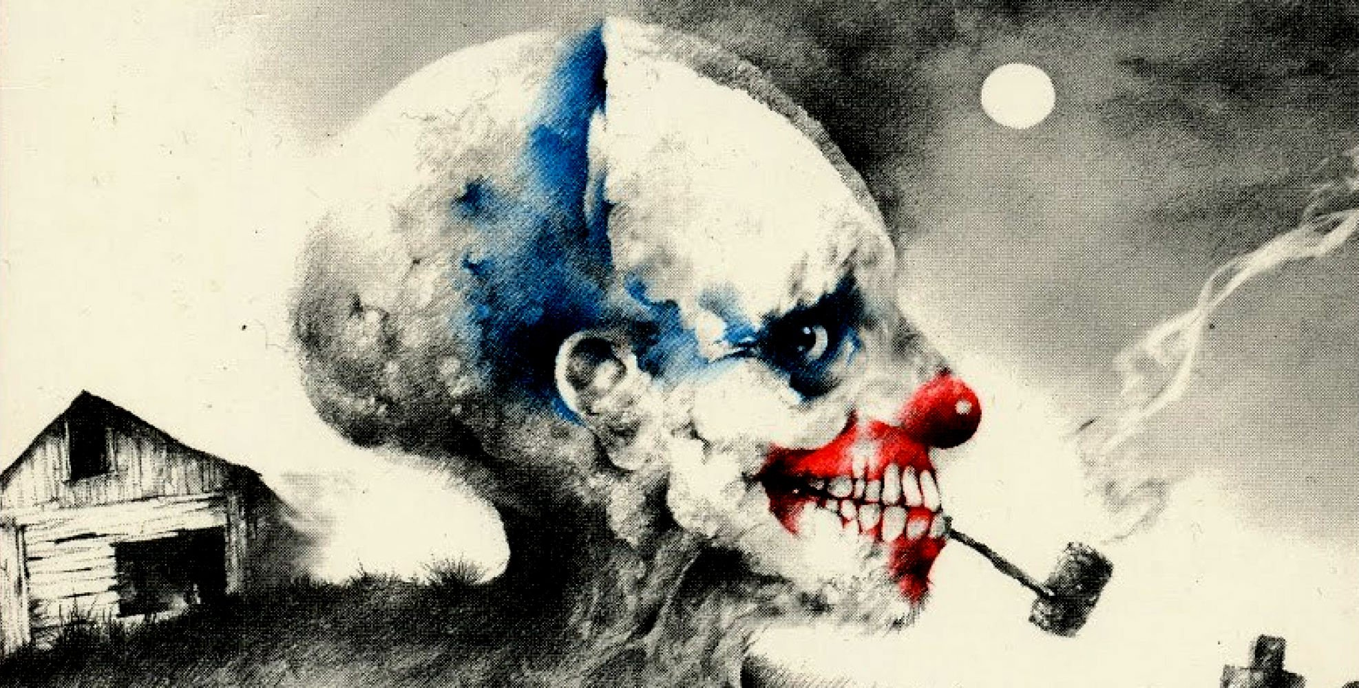 Horror Hd Wallpapers 1366x768 Dark Clown Artwork Painting Psychedelic Wallpaper