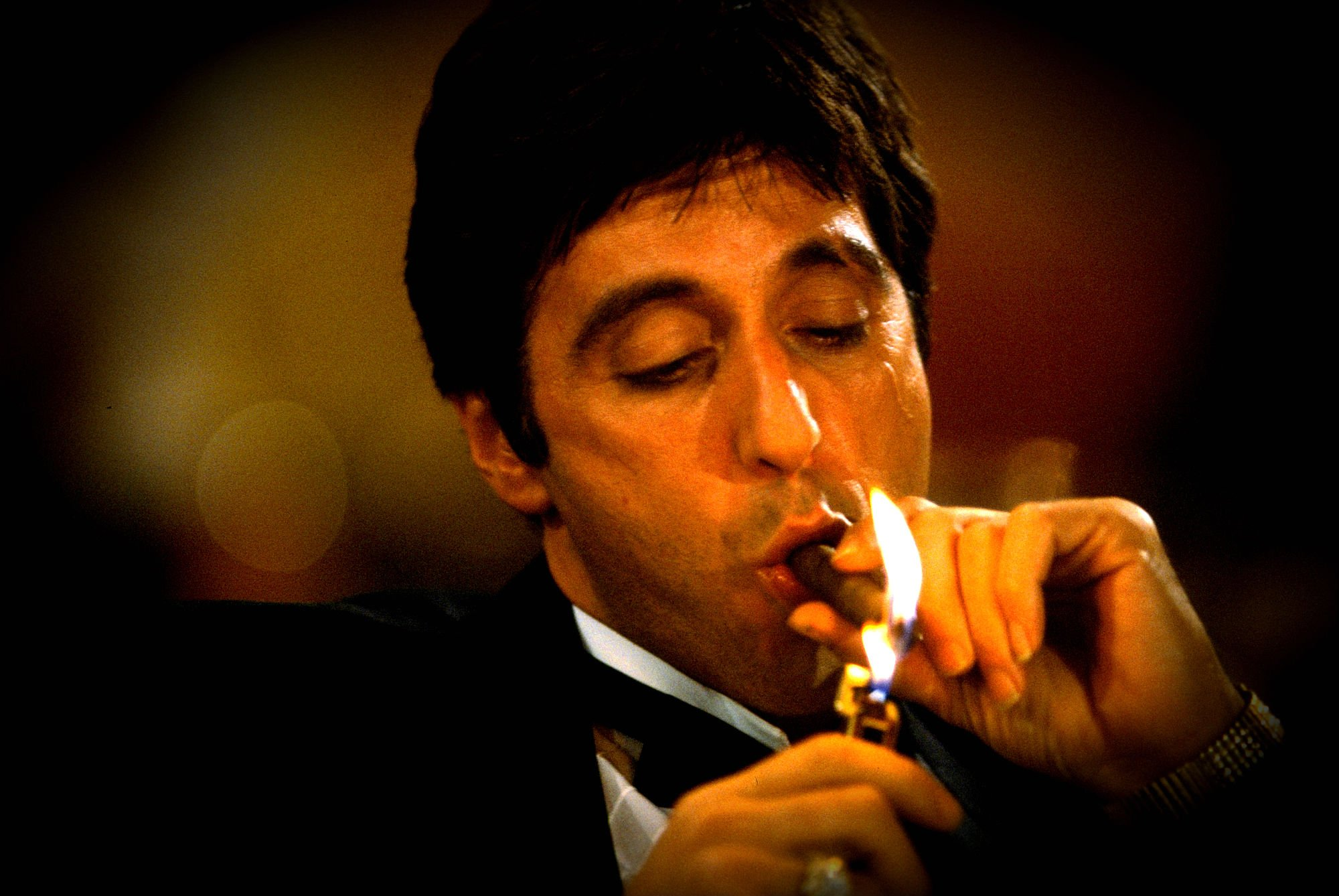 Godfather Hd Wallpaper Scarface Crime Drama Movie Film Fire Wallpaper 2000x1338