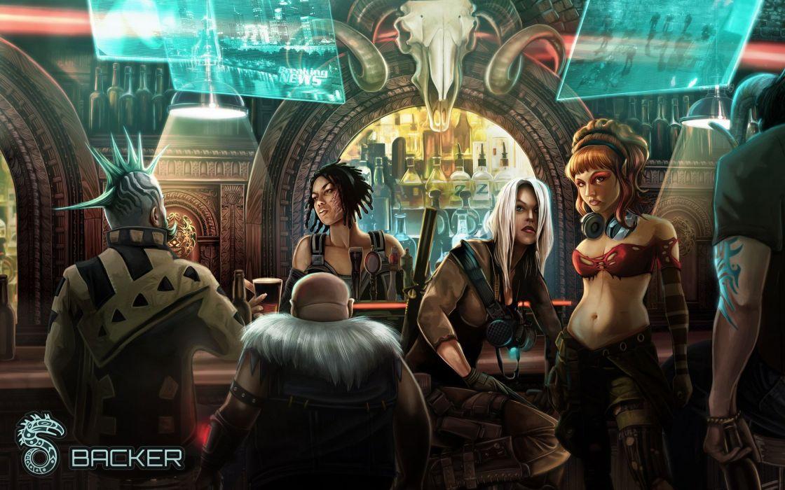 Gangsta Girl Wallpaper Hd Shadowrun Cardgame Game Mmo Online Fantasy Sci Fi Warrior