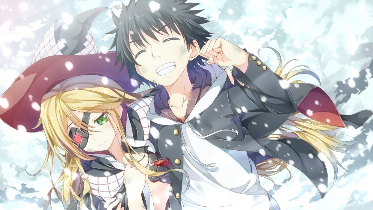 Anime Snow Wallpaper Eyepatch Hat Kamijou Touma Othinus Snow To Aru Majutsu No