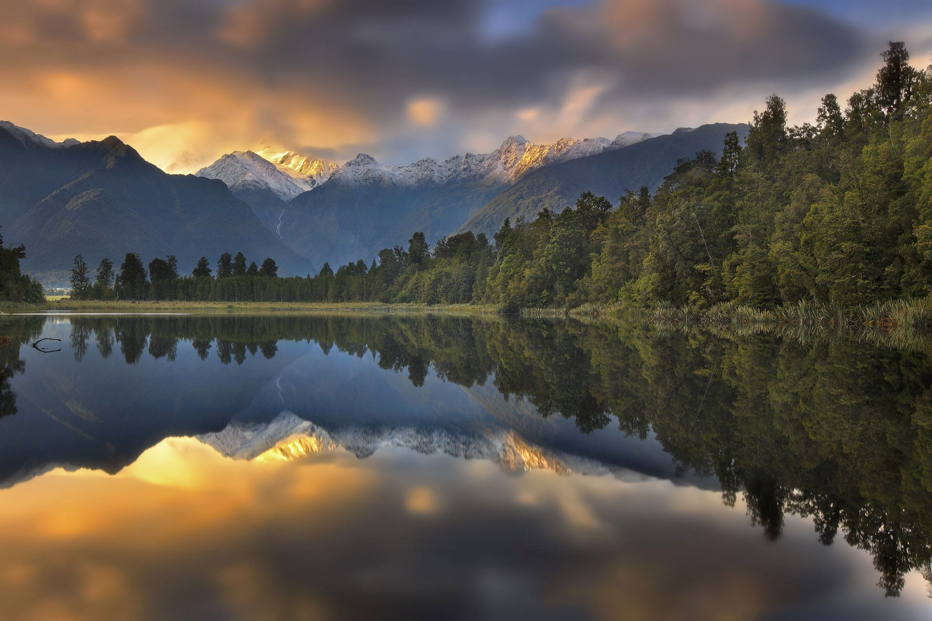 Www Wallpaper Com Free Download Hd Landscape Nature Sunset Mountains Lake Forest Reflection