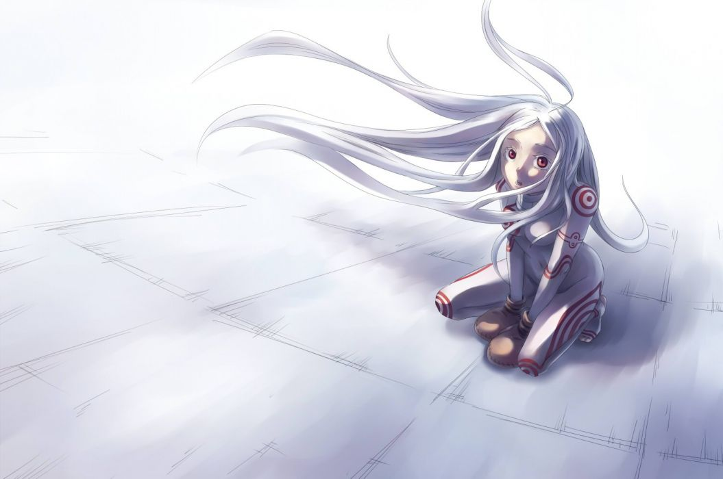 Deadman Wonderland Hd Wallpaper Deadman Wonderland Long Hair Red Eyes Shiro Deadman