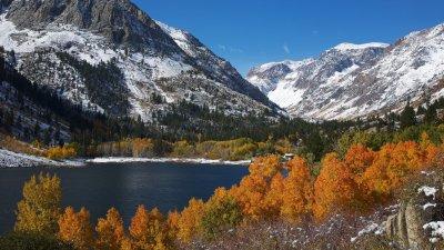Mountains snow lake trees foliage autumn wallpaper | 1920x1080 | 417255 | WallpaperUP