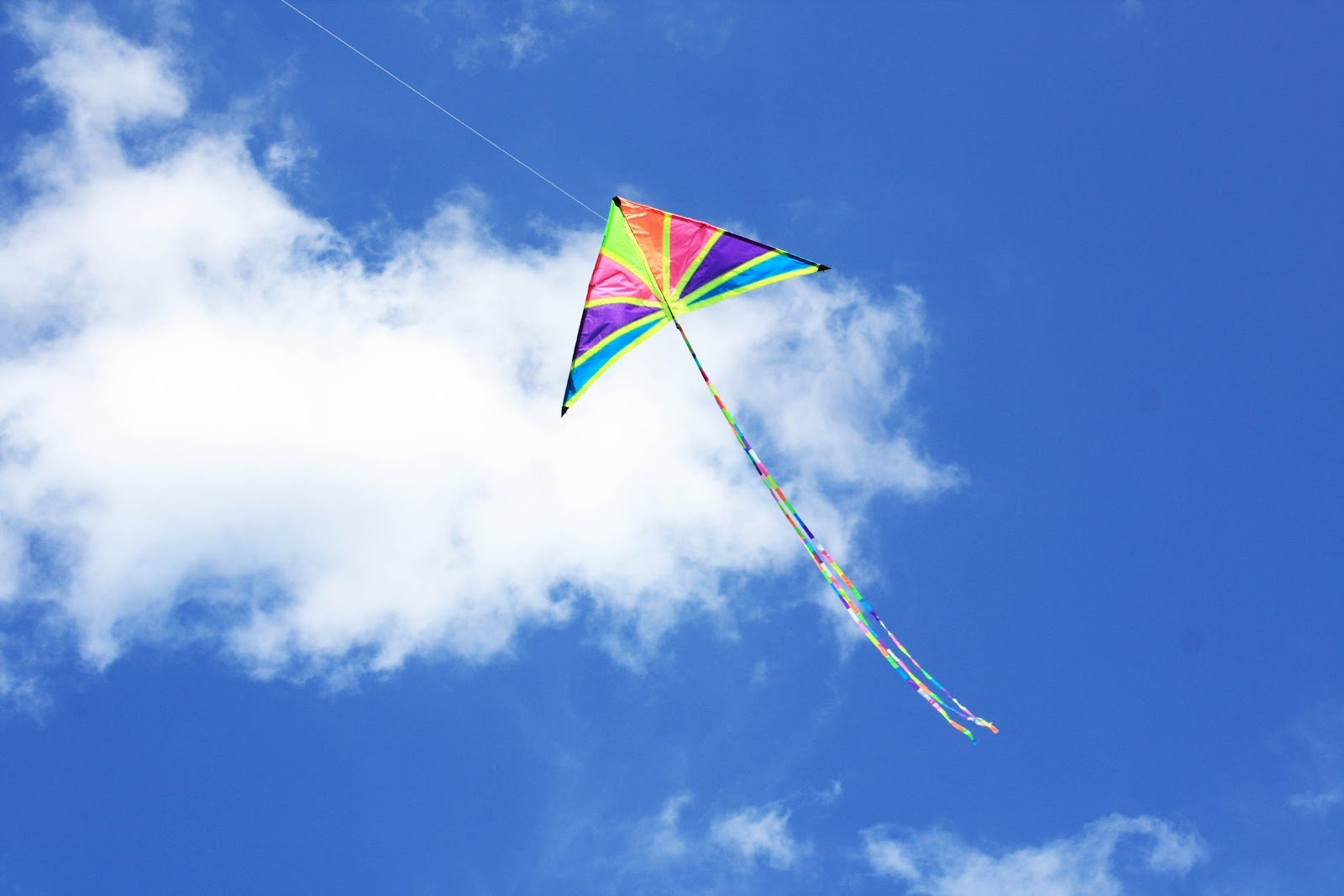 Child Wallpaper Hd Kite Flying Bokeh Flight Fly Summer Hobby Sport Sky Toy