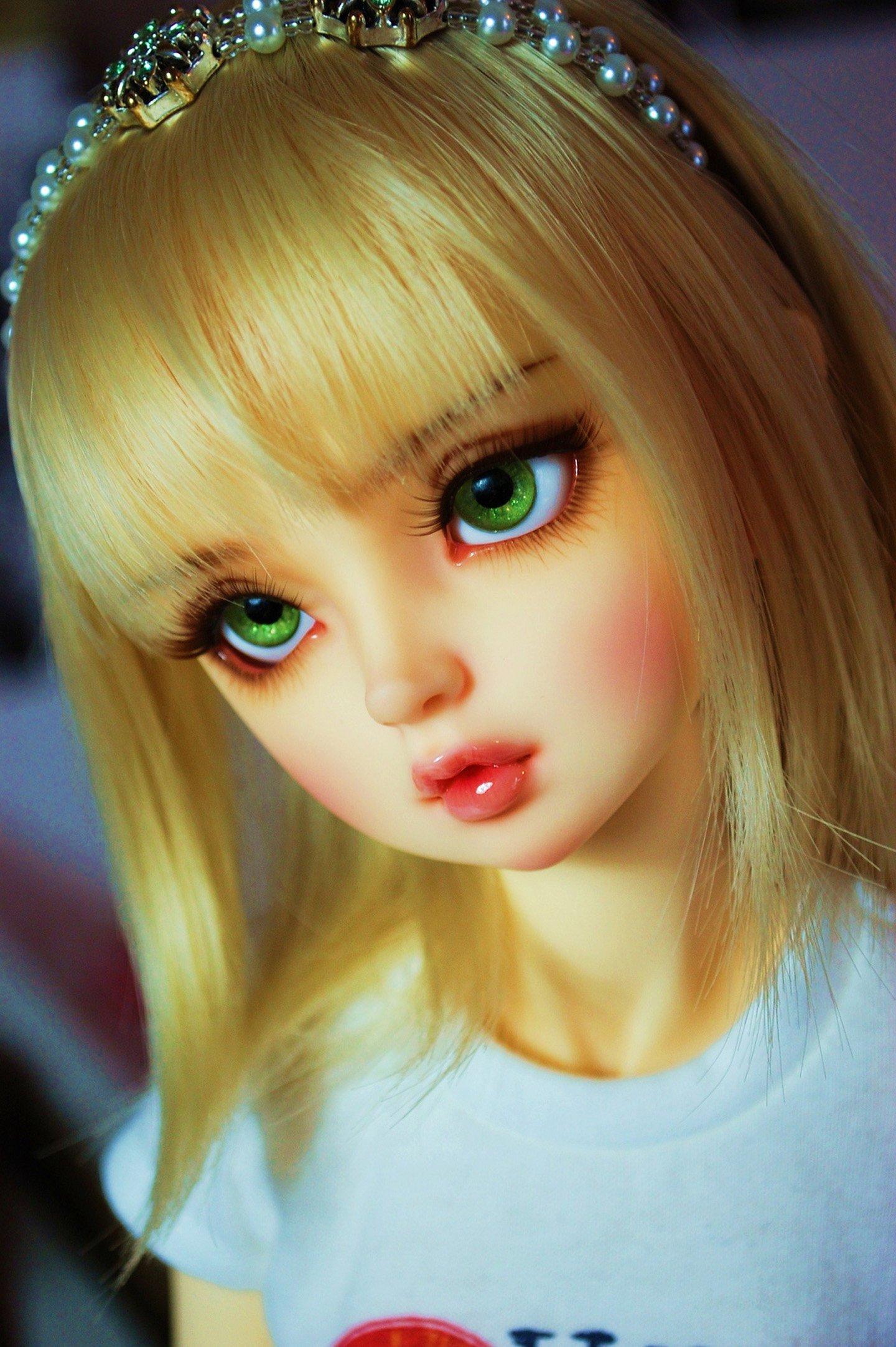 Cute Girl N Boy Wallpapers Doll Blonde Green Eyes Toys Beautiful Wallpaper