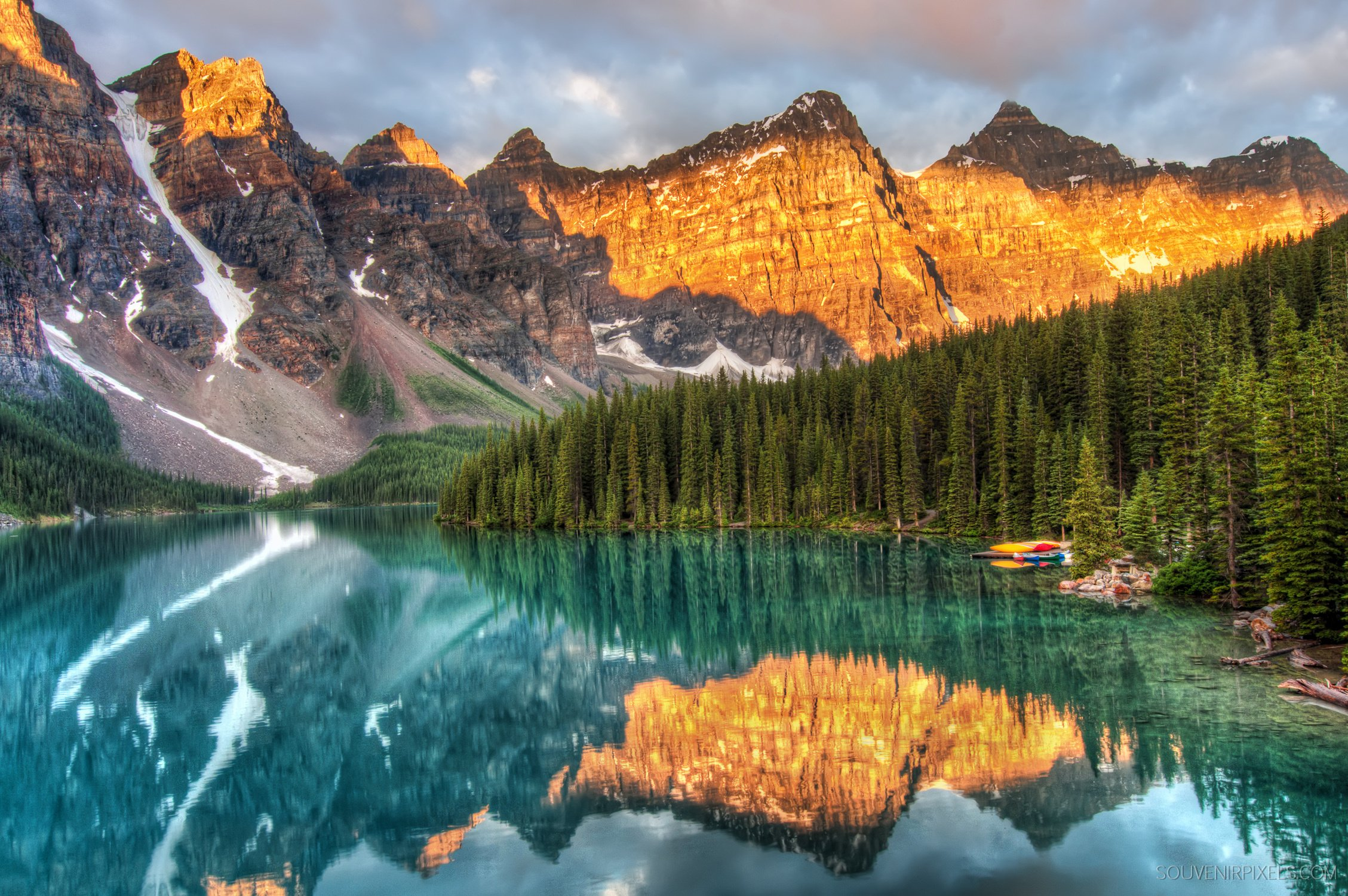 Fall Colors Wallpaper 1920x1080 Moraine Lake Canada Alberta Mountains Forest Reflection