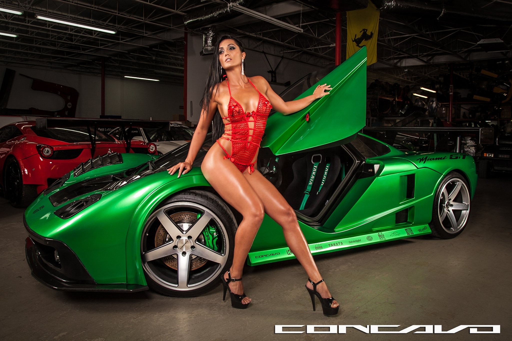 High Resolution Muscle Car Wallpapers Miami Gt Girls Babes Tuning Concavo Wheels Cars Wallpaper