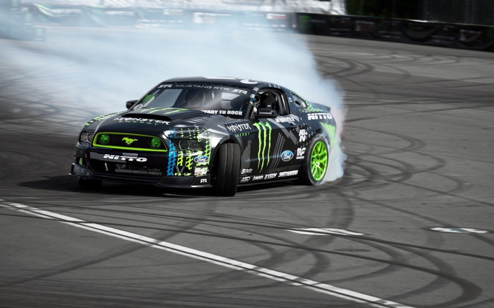 Cool Cars Drifting Wallpapers Hd Ford Mustang Rtr Monster Energy Drift Race Racing