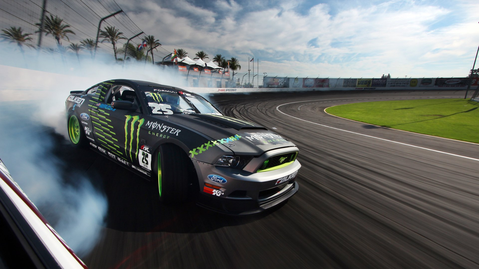 Muscle Car Hd Wallpapers 1080p Ford Mustang Rtr Monster Energy Drift Race Racing