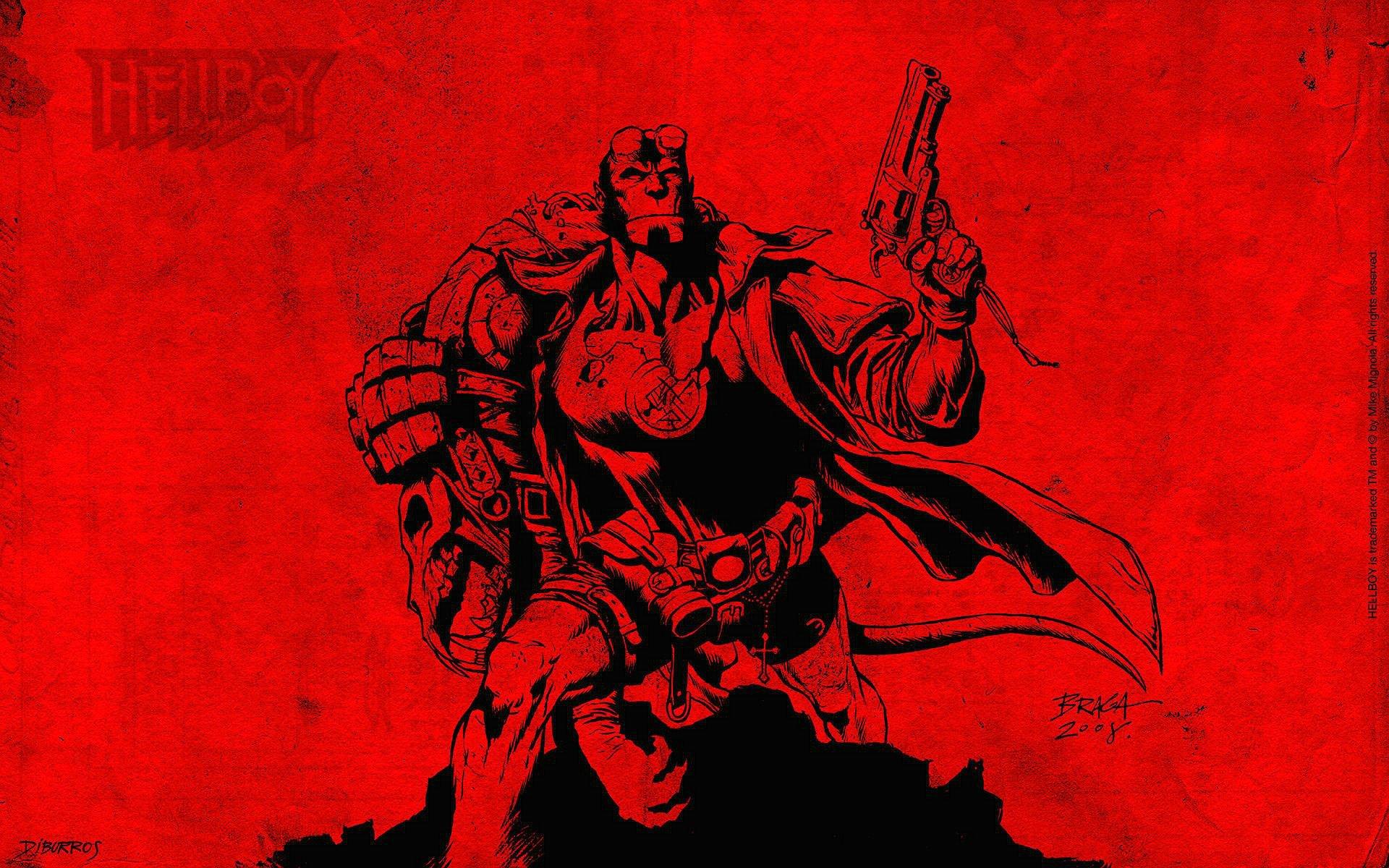 Fall Out Boy Iphone 6 Plus Wallpaper Hellboy Action Fantasy Comics Superhero Demon Monster Sci