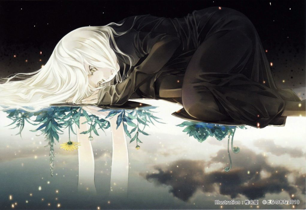 Beautiful Sad Alone Girl Wallpaper Anime Girl Flower Alone Wallpaper 3447x2363 547524