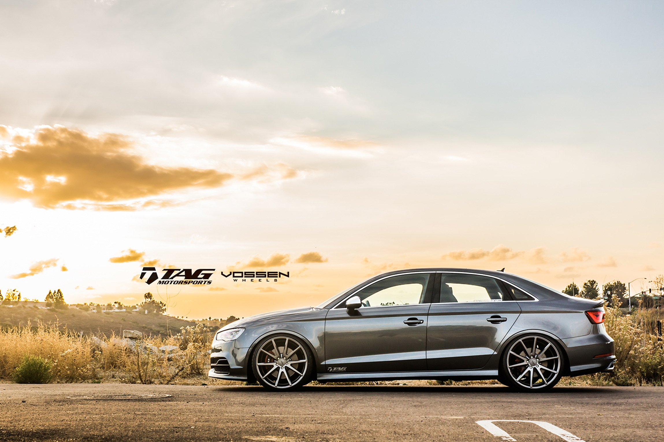 Audi Rs3 Wallpaper Hd 2014 Vossen Wheel Tuning Audi S3 Cars Sedan Grey Wallpaper