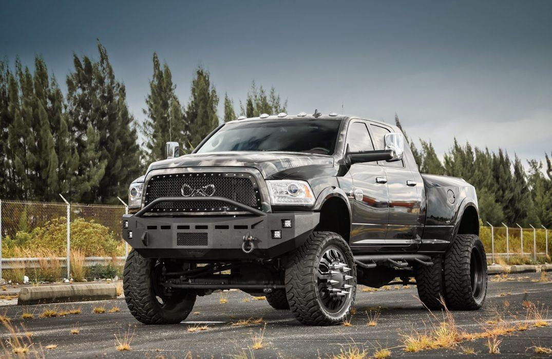 Lifted Truck Iphone Wallpaper Black Cars Duty F350 Ford Pickup Super Truck Tuning