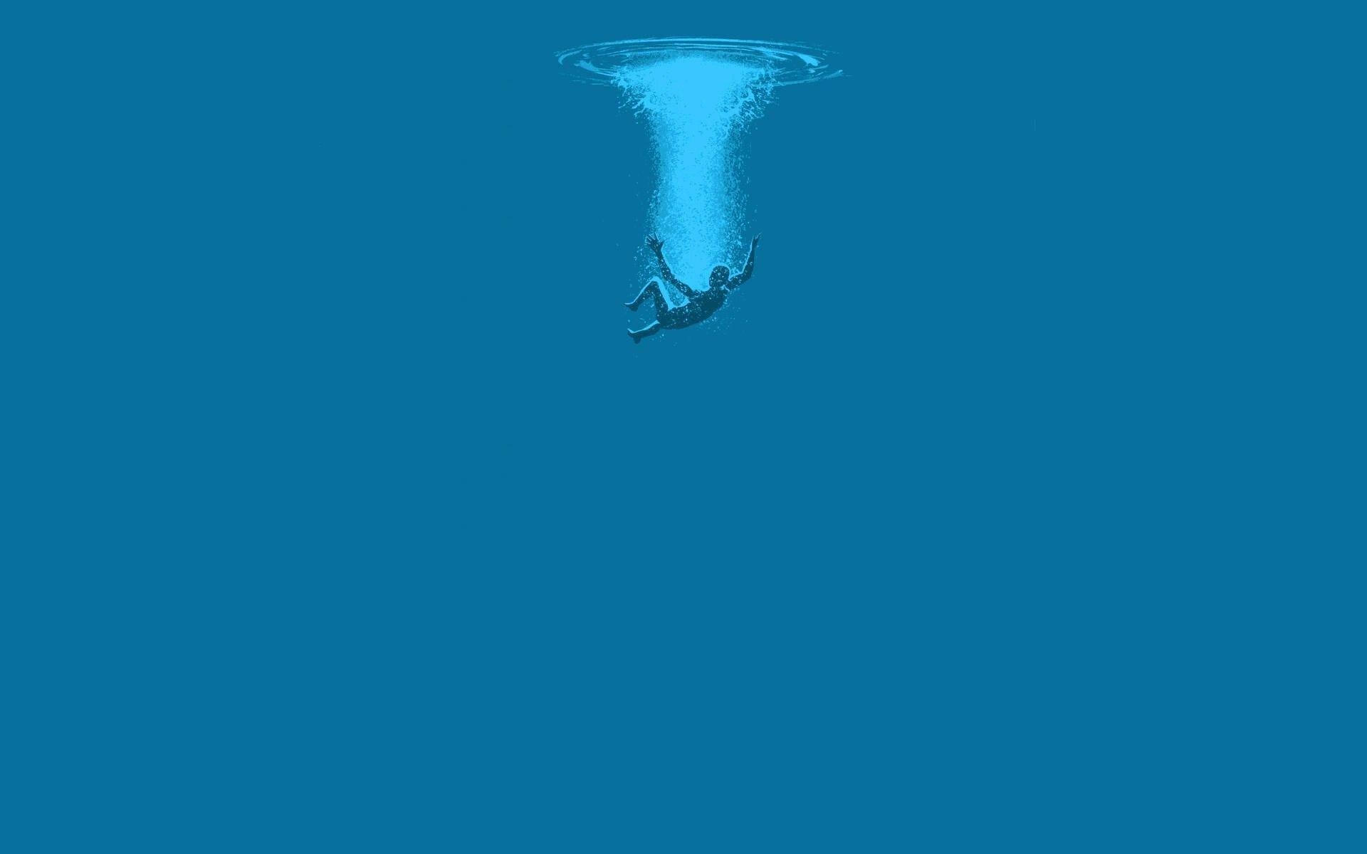 1280x800 Fall Hd Wallpaper Falling Into The Water Minimalistic Hd Wallpaper 1920x1200