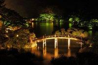Japan Parks Rivers Bridges Takamatsu Ritsurin garden Night ...