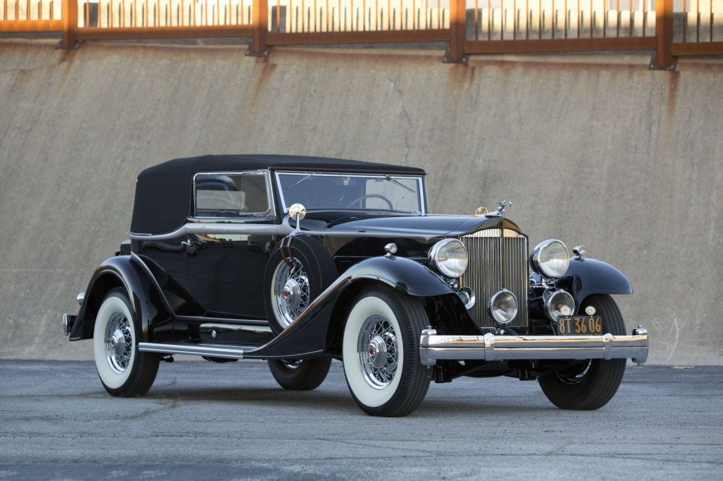 Images For Cars Wallpaper 1933 Packard Super Eight Convertible Victoria 1004 667
