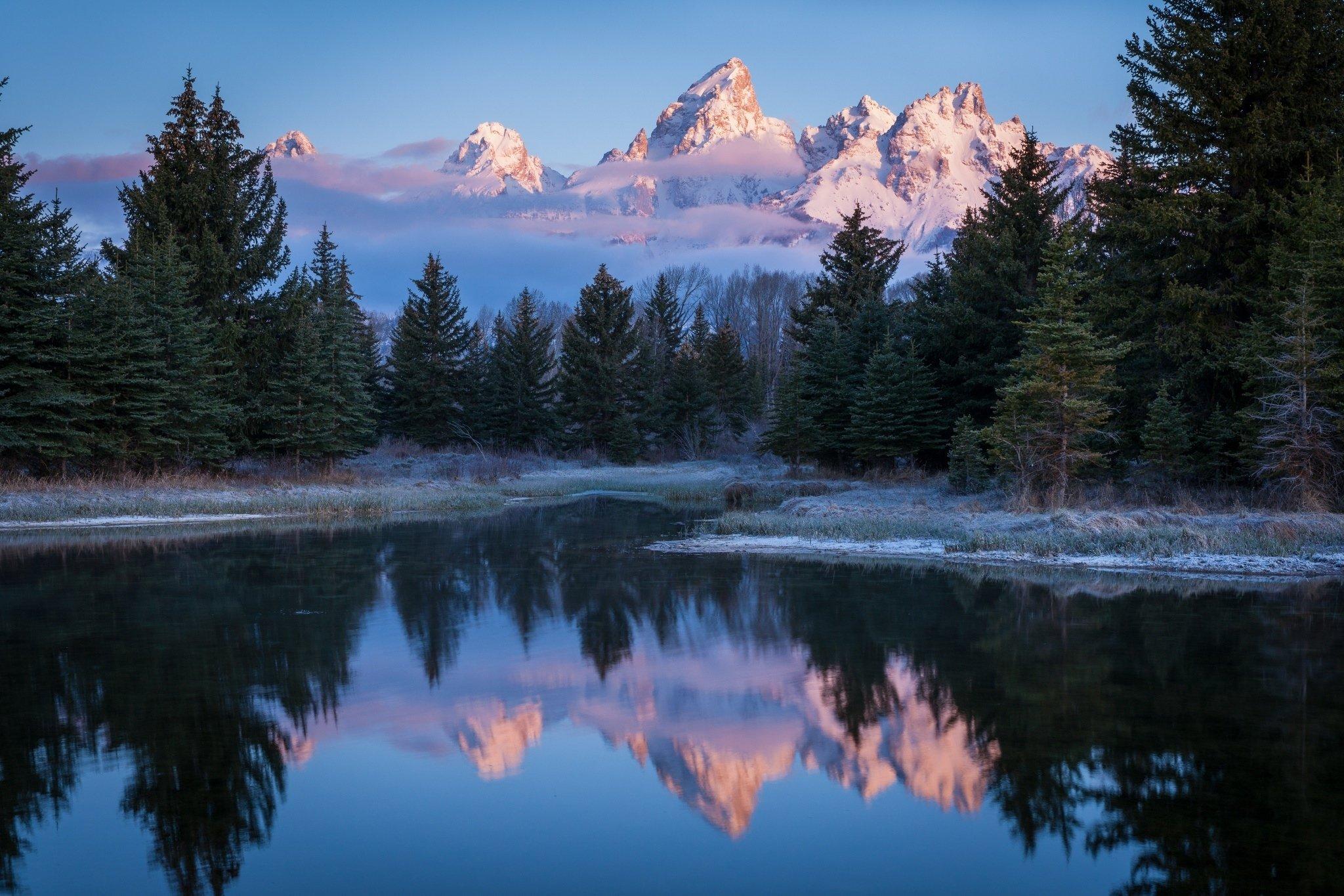 Fall Wallpapers For Desktop Idaho Grand Teton Wyoming Usa Wyoming Usa Sky Mountains Snow