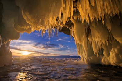 Russia Lake Winter Sunrise sunset Baikal Ice Nature frozen wallpaper | 6000x4000 | 632961 ...