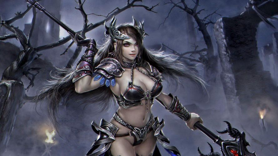 1920x1080 Wallpaper Fantasy Girl Women Warrios Art Inessa Girl Warrior Wallpaper