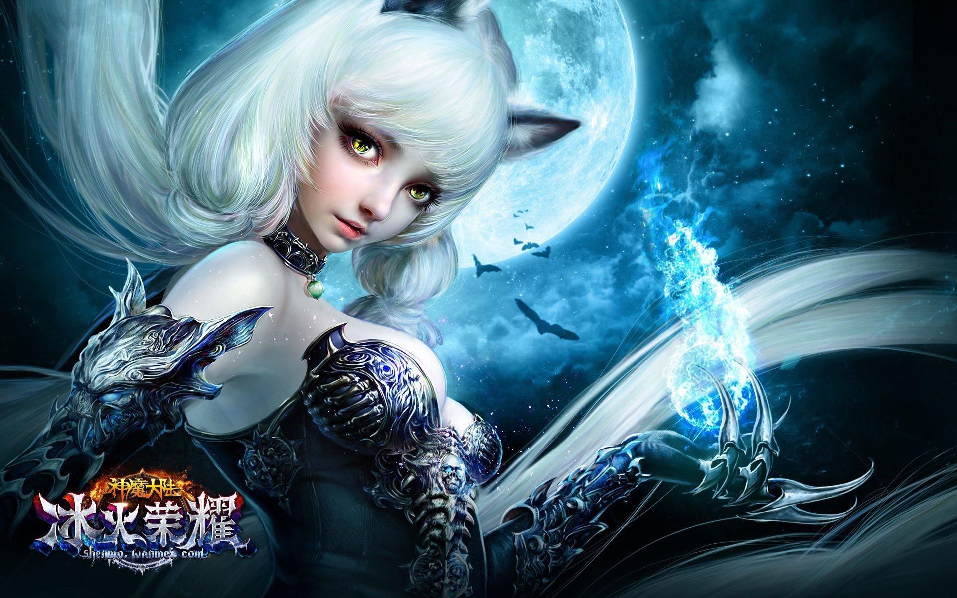 Wampire Moon Wallpaper Desktop 3d Forsaken World Shenmo Online Fantasy Mmo Rpg Perfect 1fwso