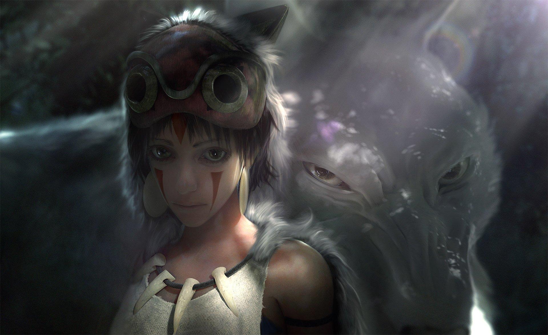 Girl Anime Wallpaper Free Download Original Girl Wolf Short Hair Anime Fantasy Forest