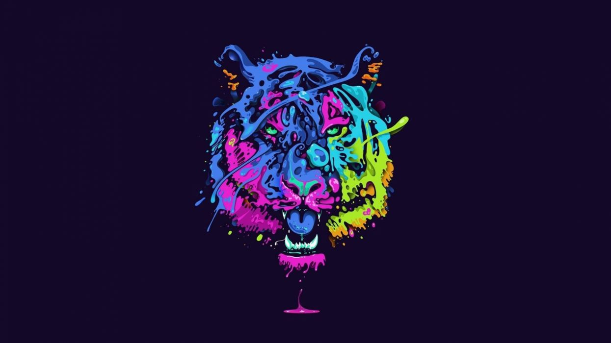 Hotline Miami Iphone Wallpaper Tiger Tiger Predator Carnivore Cat Artwork Psychedelic C