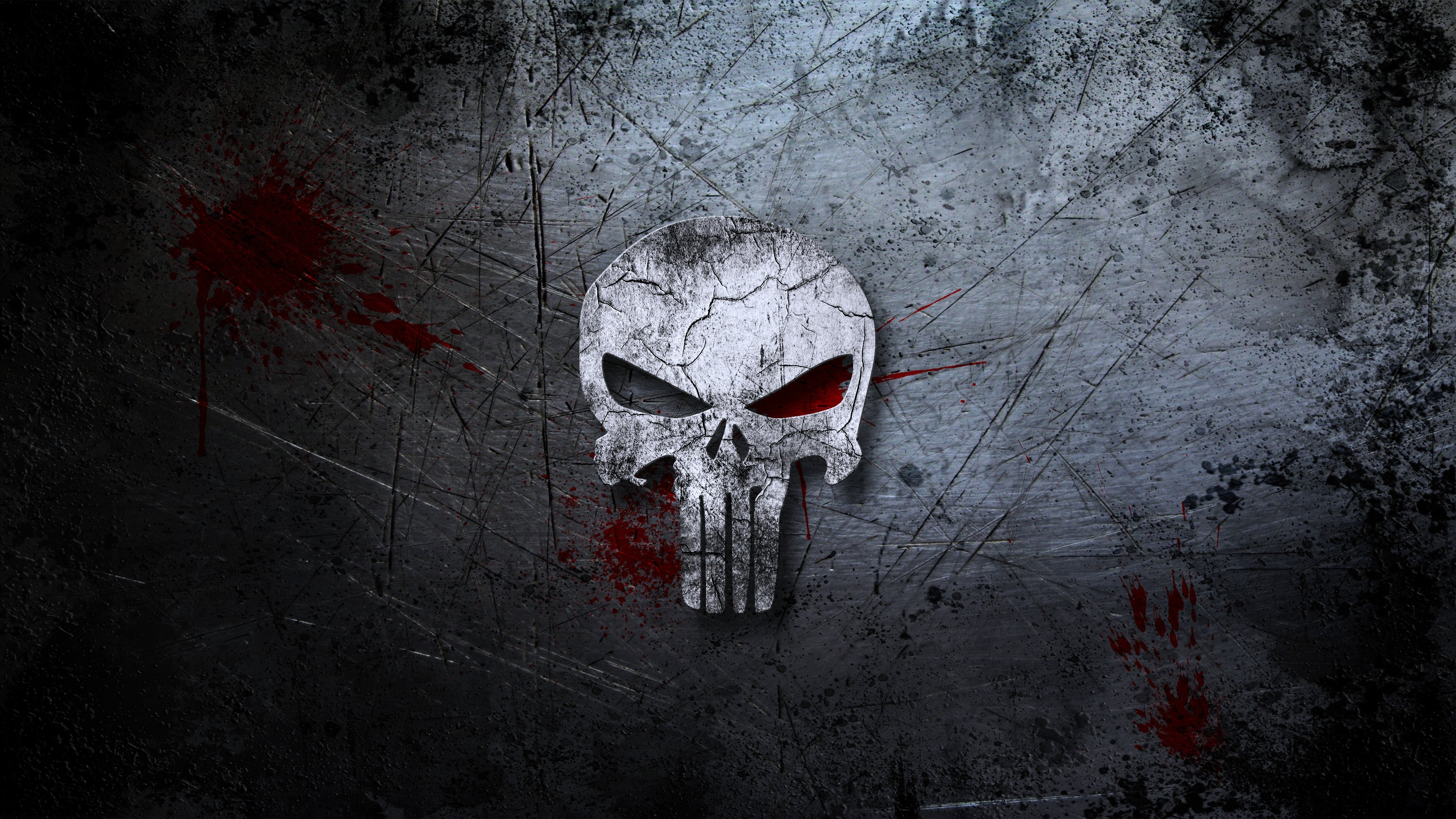 Deadpool Wallpaper Hd 1080p Punisher Skull Background Blood Scratches Movies Wall