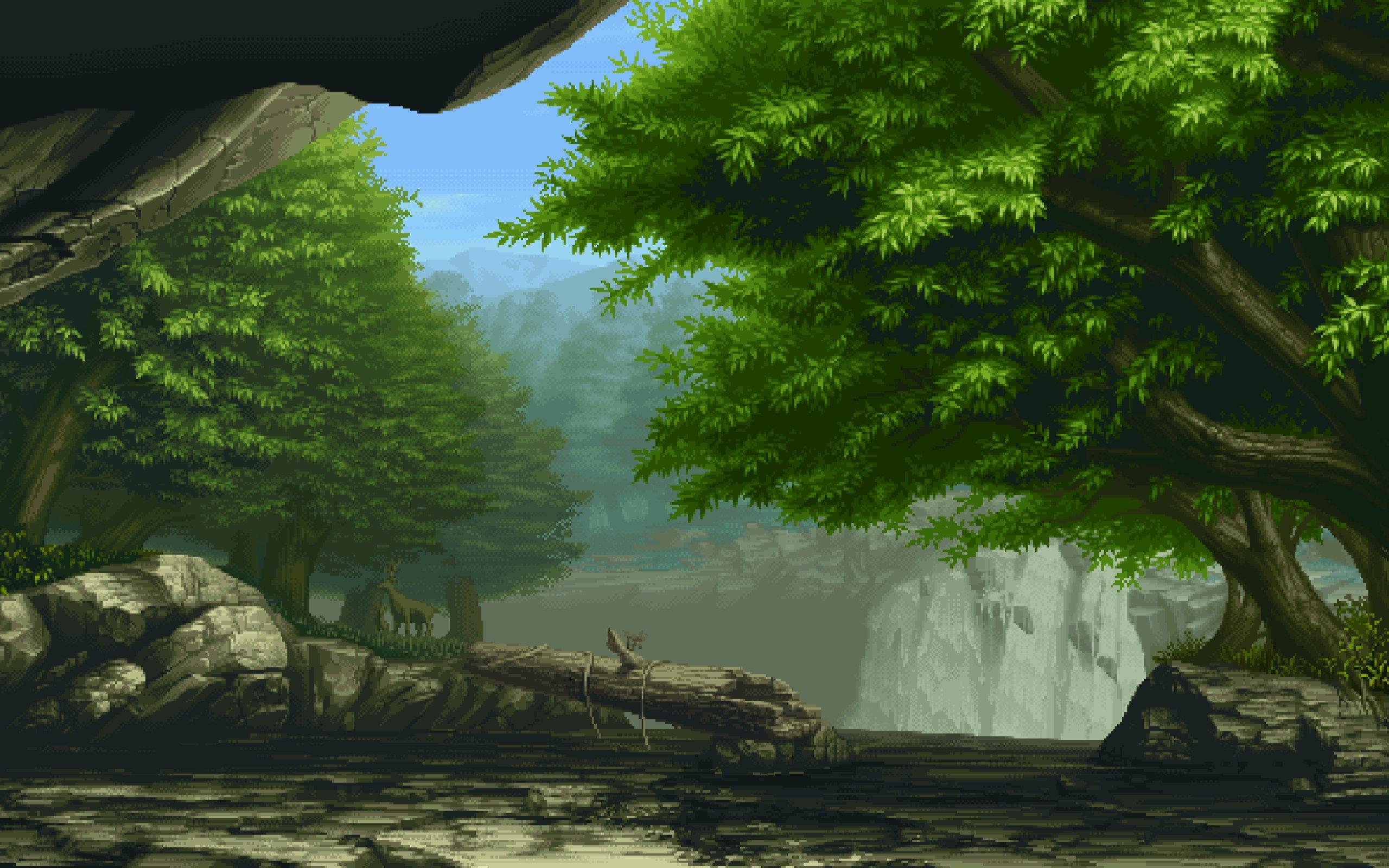 3d Fireflies Live Wallpaper Fantasy Landscape Art Artwork Nature Scenery Wallpaper