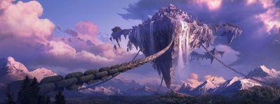 Fantasy landscape art artwork nature scenery wallpaper | 3200x1200 | 666641 | WallpaperUP