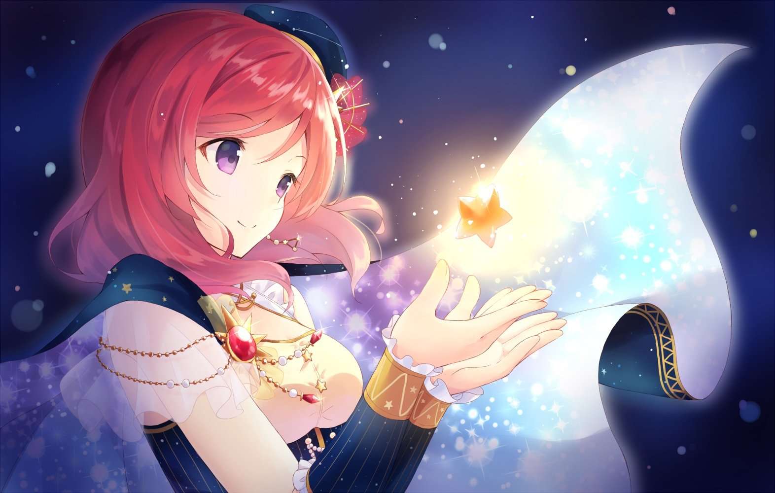 Love Magic Hd Live Wallpaper Cape Hat Love Live School Idol Project Nishikino Maki