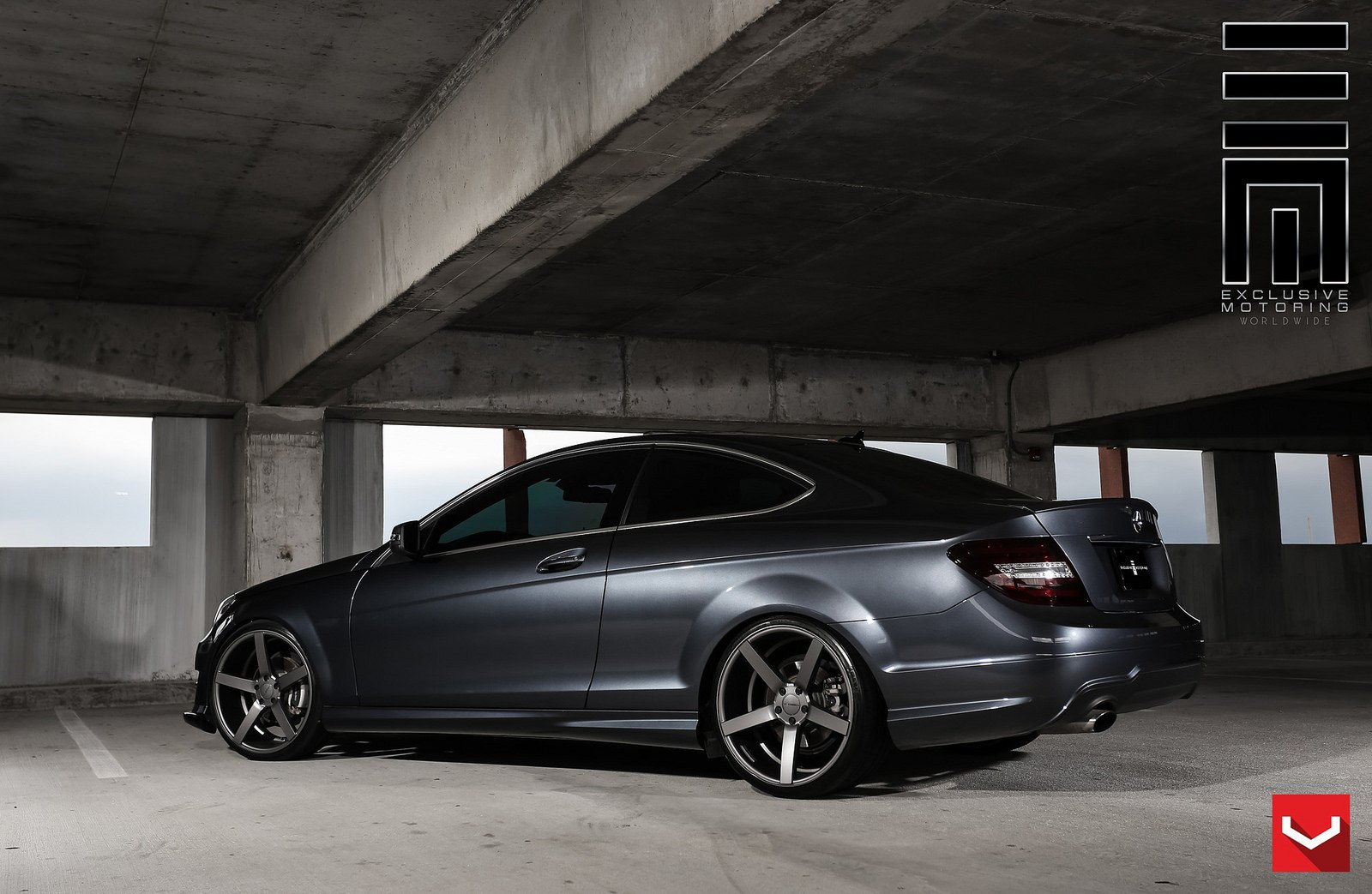 Pimped Out Cars Wallpapers Cars Vossen Tuning Wheels Mercedes C250 Coupe Black