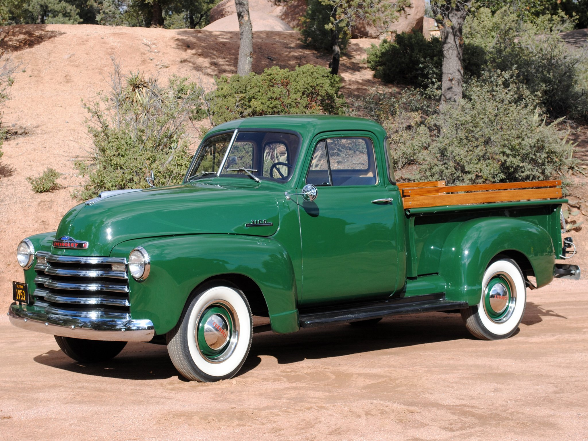 1957 Cars Restored Or Wallpapers 1953 Chevrolet 3100 Pickup Truck Classic Cars Green
